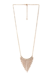 Forever 21 Tiered Rhinestone Pendant Necklace