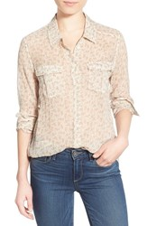 Women's Paige Denim 'Mya' Floral Print Silk Shirt