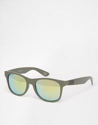Vans Spicola 4 Sunglasses With Mirrored Lens Green