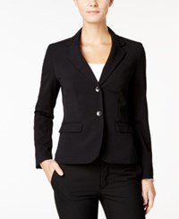 Nine West Two Button Stretch Blazer Black