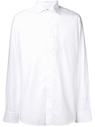 Canali Plain Formal Shirt White