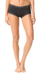 Hanky Panky Heather Jersey Boyshorts Black Heather