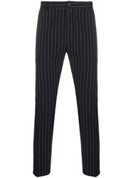 Department 5 Tailored Pinstripe Trousers Blue
