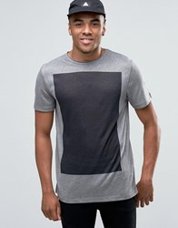 New Look T Shirt In Grey With Black Print Grey