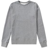 Officine Generale French Terry Crew Sweat Grey