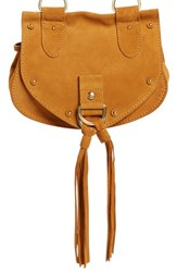 See By Chloe 'Small Collins' Leather And Suede Messenger Bag Brown Warm Sand