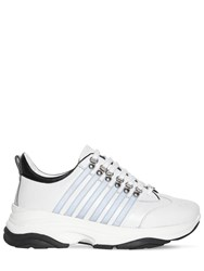 Dsquared 251 Bumpee Reflective Leather Sneakers White