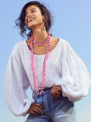 Mgems Jewelry Summer Dreaming Pom Necklace By At Free People