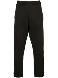 032C Red Stripe Sweatpants Men Cotton Polyester M Black