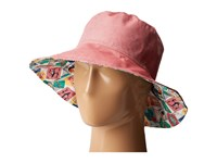 Vera Bradley Beach Hat Red Oxford Caps Pink
