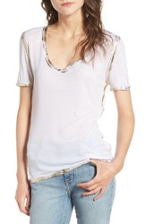 Zadig And Voltaire Women's Tino Foil Tee Blanc