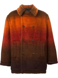 Jean Paul Gaultier Vintage Gradient Double Breasted Coat Yellow And Orange