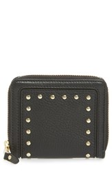 Cole Haan Cassidy Small Rfid Leather Zip Wallet Black