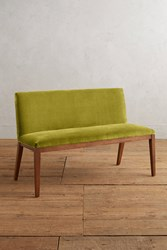 Anthropologie Velvet Emrys Bench Chartreuse