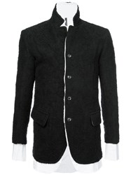 Nude Layered Button Jacket Black