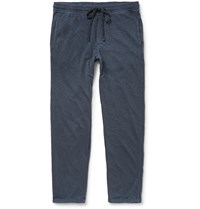 James Perse Slim Fit Loopback Cotton Jersey Sweatpants Blue