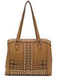 Love Moschino Studded Tote Brown