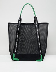 Stradivarius Large Mesh Shopper Black