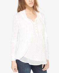 Motherhood Maternity Open Front Cardigan White