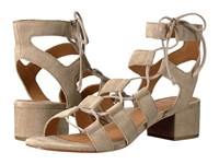 Frye Chrissy Side Ghillie Ash Soft Oiled Suede Women's Dress Sandals Gray