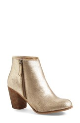 Women's Bp. 'Trolley' Ankle Bootie Gold Leather