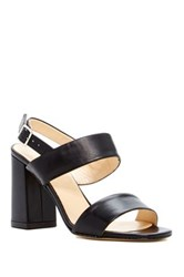 Summit By White Mountain Morna Genuine Leather Slingback Sandal Black