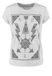 Mavi Jeans Mavi Print Tshirt Light Grey