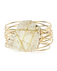 Panacea Wrapped Howlite Wire Cuff Bracelet White