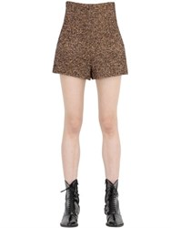 Philosophy Di Lorenzo Serafini Wool Blend Herringbone Shorts