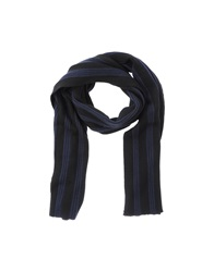 American Retro Oblong Scarves Dark Blue