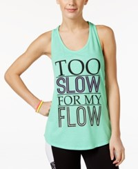 Material Girl Active Juniors' Racerback Graphic Tank Top Only At Macy's