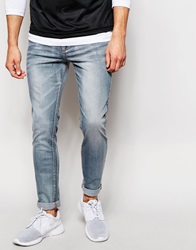 New Look Skinny Jeans In Washed Blue Blueblack