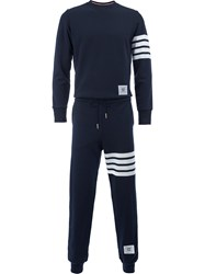 Thom Browne Track Jumpsuit Men Cotton Cupro Rayon 2 Blue