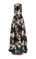 Sachin Babi And Dharma Plunge Gown Floral