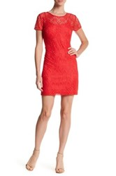 Guess Crochet Lace Dress Red