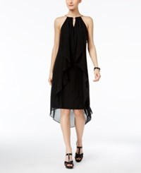 Thalia Sodi Chain Neck High Low Halter Dress Created For Macy's Deep Black