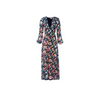 Rixo Camellia Dress Bohemian Black Floral