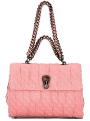 Ermanno Scervino Ruched Tote Bag Pink And Purple