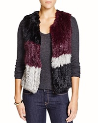 525 America Rabbit Fur Patchwork Vest