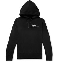 Sacai The New York Times Printed Loopback Cotton Jersey Hoodie Black