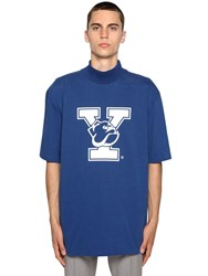 Calvin Klein 205W39nyc University Printed High Collar T Shirt Blue