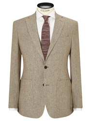 John Lewis And Co. Benstock Pure Linen Tailored Blazer Neutral