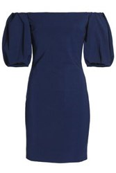 Cushnie Et Ochs Off The Shoulder Crepe Mini Dress Navy