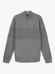 Lyle And Scott Contrast Panel Funnel Neck Top Mid Grey Marl