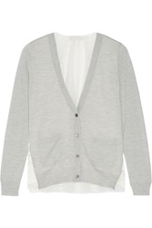 Clu Lace Paneled Wool And Cashmere Blend Cardigan