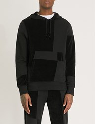 Christopher Raeburn Textured Panel Cotton Jersey Hoody Black