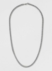 Topman Box Curb Chain Necklace Metallic