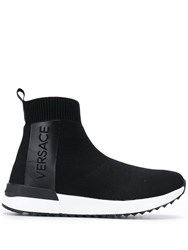 Versace Jeans Logo Slip On Sneakers Black