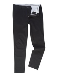 Linea Chelsea Slim Fit Chino Trousers Black