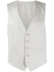 Dell'oglio Single Breasted Waistcoat Grey